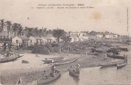RRR! SAINT LOUIS (Senegal) 1907 - Bords Du Fleuve A Guet N'Dar, Gel.1907, Sondermarke Senegal, Sonderstempel Police - Senegal