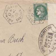 RRR! FRANKREICH - 2,5 F Auf Brief Gel.v.Adamswiller Bas.Rhin > Vejle, 2 Zensurstempel Ouvert Par L'Autoritè Mi... - Frankreich