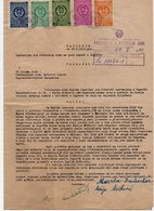 1953 YUGOSLAVIA, CROATIA, MUNICIPAL COURT DOCUMENT,  ZAGREB,  5 FISKAL STAMPS - Invoices & Commercial Documents