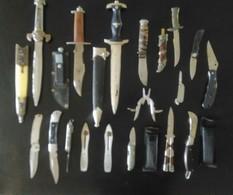 Gros Lot De Couteaux Tous Différants De Petit à Grand - Armes Blanches