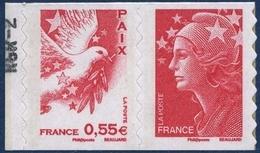 0178 + 0175  Paix Et Colombe (rouge) - Marianne De Beaujard (4200 Et 4197) Neufs ** 2008 + - France
