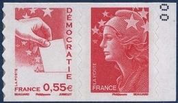 0176 + 0175  Vote Et Démocratie (rouge) - Marianne De Beaujard (4198 Et 4197) Neufs ** 2008 + - France