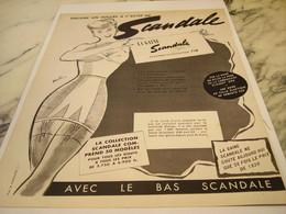 ANCIENNE  PUBLICITE ENCORE UN SUCCES GAINE SCANDALE 1952 - Habits & Linge D'époque