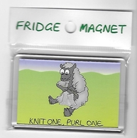 Fridge Magnet Knit One Purl One - Humour