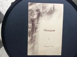 MENU BANQUET POMPIERS  Salle Alex HOUILLES  Janvier 1954 - Menus