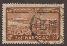 MAROCCO. PERIN BEM. 80c BROWN USED - Morocco (1956-...)