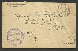 """Cachet """" 23ème Régiment Infanterie Coloniale - 27ème Cie """" / BOUTIGNY - ESSONNE 1916 - Postmark Collection (Covers)"""