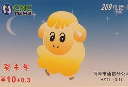 TARJETA TELEFONICA DE CHINA. COMICS SHEEP. HZ11-(3-1). (675). - China
