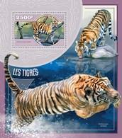 Niger, 2014. [nig14415] Fauna, Tigers (s\s+block) - Raubkatzen