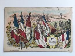 AK 1 Er Regiment D'infanterie Infanterie Cambrai Adresse Caserne Mortier 1 Compagnie Cambrai - Regiments