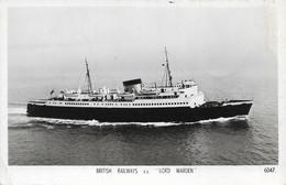 British Railways Lord Warden (2 Scans) - Steamers