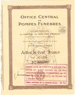 Titre Ancien - Office Central De Pompes Funèbres - Société Anonyme - Titre De 1933 - Actions & Titres