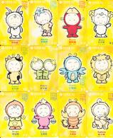 CHINA - Zodiac, Set Of 12 China Unicom/Hubei Prepaid Cards Y50-100, Exp.date 31/03/04, Used - Zodiaco