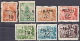 FIUME - 1919 - Lotto Di 7 Valori Nuovi MH: Yvert 83, 85, 89 E 91/94. - 8. WW I Occupation