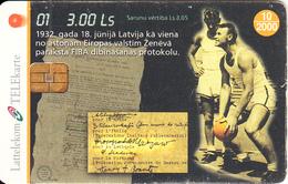 LATVIA - Basketball 1, Tirage 35000, Exp.date 10/99, Used - Letland