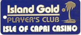 Isle Of Capri Casino - Biloxi, MS - Luggage Tag / Dangle - Casinokarten