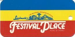 Landmark Festival Palace Hotel & Casino - Las Vegas, NV - Keychain / Dangle Card - Casinokarten