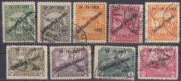 FIUME - 1921/1922 - Lotto Di 9 Valori Usati: Yvert 150, 152, 159/163, 165 E 166. - 8. Occupazione 1a Guerra