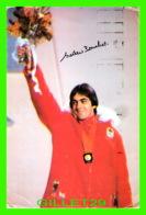 CÉLÉBRITÉ SPORTIVE - GAÉTAN BOUCHER - PATINAGE DE VISTESSE - AUTOGRAPHE - CIRCULÉE EN 1989 - - Sportifs
