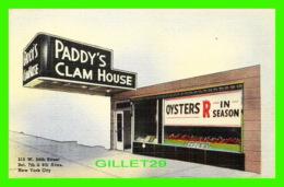 NEW YORK CITY, NY - PADDY'S CLAM HOUSE INC - SHELL FISH SPECIALIST - - Cafés, Hôtels & Restaurants