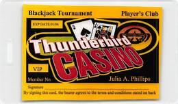 Thunderbird Casino - Norman & Shawnee OK - Laminated Blackjack Tournament Player's Club Card - Casino Cards