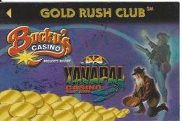 Bucky's & Yavapai Casinos Prescott AZ - Refrigerator Magnet That Is 2 X 3 Inches In Size - Casino Cards