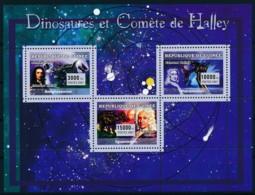 [402166]TB//**/Mnh-Guinée 2007 - Dinosaures Et Comète De Halley - Minéraux