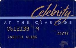 Claridge Casino - Atlantic City, NJ - 10th Issue Slot Card   ....[RSC]..... - Casinokarten