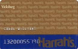 Harrah's Casino Vicksburg MS 2nd Issue Slot Card With DARK Harrah's Pattern ...[RSC]... - Casino Cards
