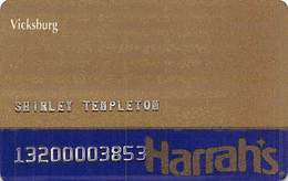 Harrah's Casino Vicksburg MS 2nd Issue Slot Card With FAINT Harrah's Pattern ...[RSC]... - Casino Cards