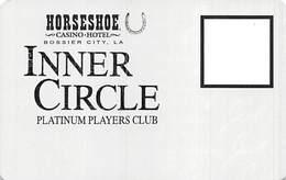 Horseshoe Casino - Bossier City, LA - BLANK Inner Circle Platinum Players Club Card  ...[RSC]... - Casino Cards
