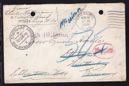 Unfrankierter Brief Ab Wheeling W.Va. NOV 28 1938 Nach Stuttgart Mit Nachgebühr - Vereinigte Staaten