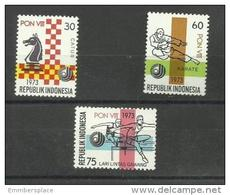 Indonesia - 1973 National Sports Week Set Of 3 MNH **  Sc 847-9 - Indonesia
