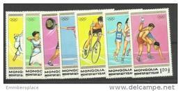 Mongolia - 1988 Seoul Olympics Set Of 7 MNH **  Sc 1677-83 - Mongolia