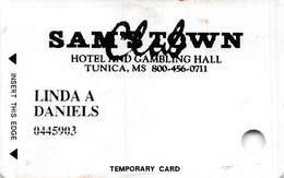 Sam's Town Tunica MS - Rare Temporary Slot Card  ...[RSC]... - Casinokarten