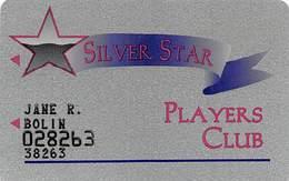 Silver Star Casino - Philadelphia MS - 3b Issue Slot Card - Black Stars / 29mm Wide Logo  ...[RSC]... - Casino Cards
