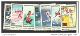Mongolia - 1984 Sarajevo Winter Olympics Set Of 7 MNH **  Sc 1347-53 - Mongolia