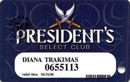 Trump Taj Mahal Atlantic City NJ 10th Issue President's Select Club Slot Card  ...[RSC]... - Casinokarten