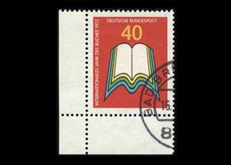 BRD 1972, Michel-Nr. 740, Internationales Jahr Des Buches, 40 Pf., Eckrand Unten Links, Gestempelt - Gebruikt