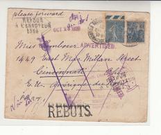 France / U.S. / Returned Mail / Ohio - France