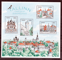 France 5212 5215 2018 Tallin Capitale Européenne  F   Neuf TB ** MNH Sin Charnela Prix De La Poste 6 - Nuovi