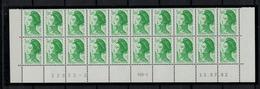 FRANCE      N° YVERT  :   2219 X 20   NEUF   BAS DE FEUILLE  Coin Daté  13/07/82       N°  32633 - 2    RGR - 1 - 1982-90 Liberty Of Gandon