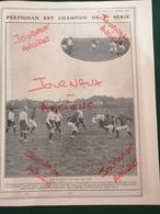 1911 RUGBY - PERPIGNAN EST CHAMPION DE 2ème SÉRIE - PERPIGNAN BAT DOLE À COLOMBE - Bücher, Zeitschriften, Comics