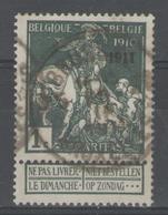 BELGIQUE:  N°93 Oblitéré       - Cote 38€ - - 1910-1911 Caritas