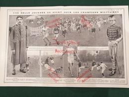 1911 SPORT MILITAIRE - CROSS COUNTRY JEAN BOUIN - RUGBY 103 ème = 75 ème D'INFANTERIE - LANCIERS BELGES = 129 ème - Livres, BD, Revues