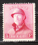 177*  Roi Albert Casqué - Bonne Valeur - MH* - LOOK!!!! - 1919-1920 Roi Casqué
