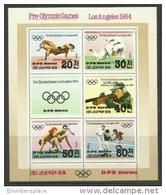 DPR Korea - 1983 Los Angeles Pre-Olympics Sheetlet MNH **  Sc 2297 - Korea, North