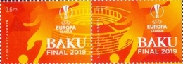 2019 UEFA Europa League Final. Azerbaijan Stamps. Together To BAKU 2 STAMPS - Azerbaïjan