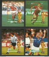Maldives - 1990 Soccer World Cup Set Of 4 S/sheets MNH** - Maldives (1965-...)