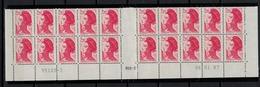 FRANCE      N° YVERT  :   2376  X 20   NEUF   BAS DE FEUILLE  Coin Daté  06/01/87    N°  95105 - 2    RGR - 2 - 1982-90 Liberty Of Gandon